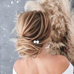 cotton-pearl hair pins