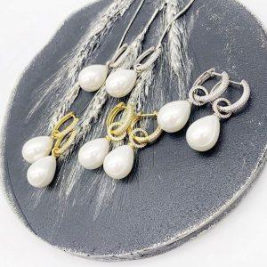 Pearl drops silver