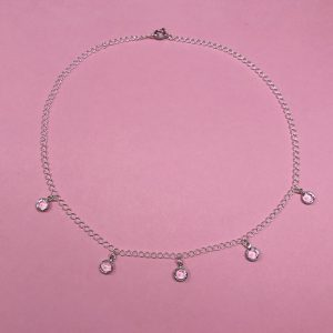 Spring water necklace silver