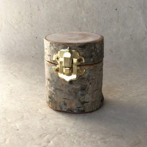 Birch jewelry box Gold