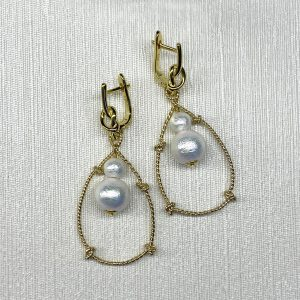 Golden knots earrings