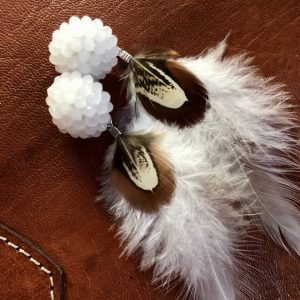 Feather Boho earings